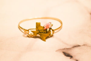 Flower Bouquet Texas Stamped Bracelet