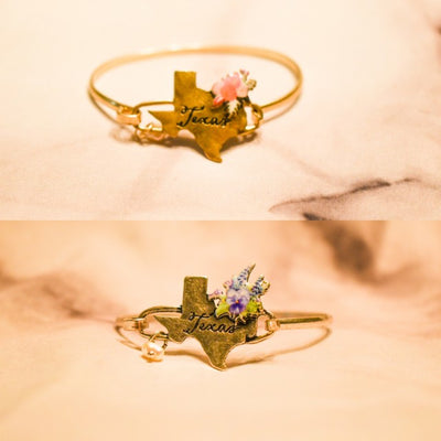 Texas Bluebonnet Cuff