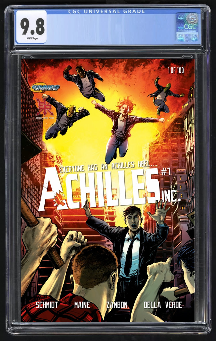 Achilles Inc #1 Silvio DB Trade Dress CGC 9.8