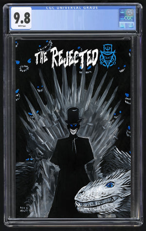 Rejected # 1 Game of Thrones Homage Iron Throne Variant. CGC 9.8