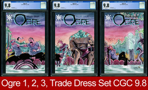 Ogre #1, #2, #3 CGC 9.8 Raft Trade Dress Connecting Cover Three Book Set