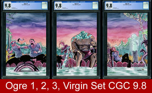 Ogre #1, #2, #3 CGC 9.8 Raft Virgin Connecting Cover Three Book Set
