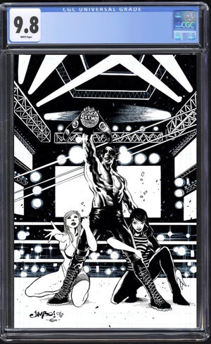Over the Ropes #1 Jimbo Salgado B&W CGC 9.8