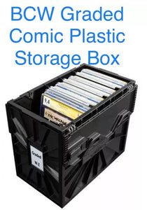 One BCW graded comic storage bin.