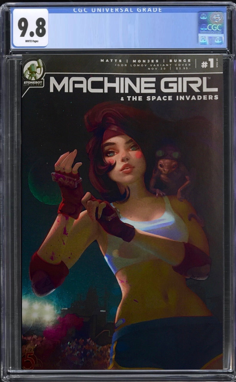 Machine Girl & Space Invaders #1 Lomov Trade CGC 9.8