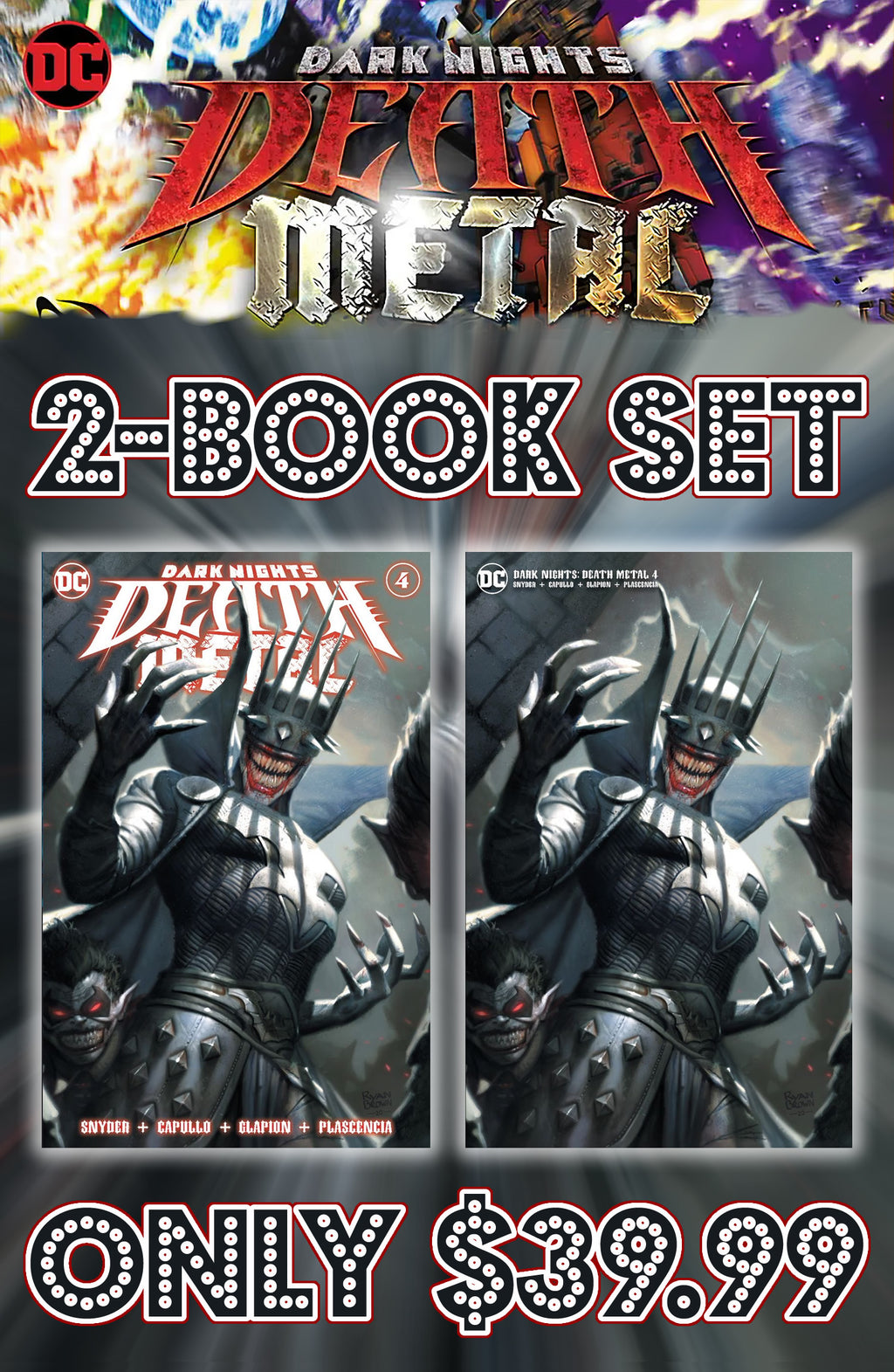 Dark Nights Death Metal 4 Brown 2 Book Set