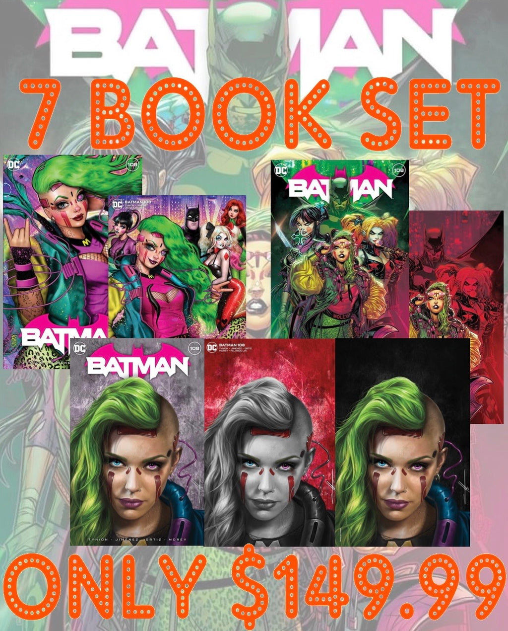 Batman 108 7 Book Master set
