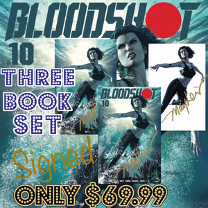 Bloodshot 10 Mayhew 3 Book Set Signed with C.O.A.
