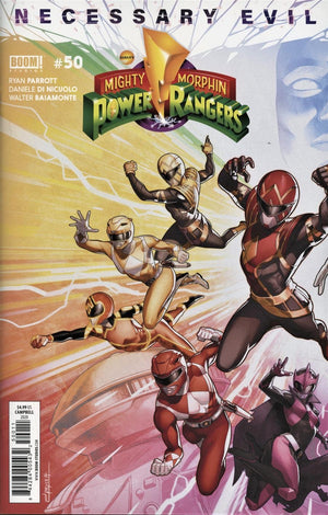 Mighty Morphin Power Rangers 50 2 book Connecting Cover Set