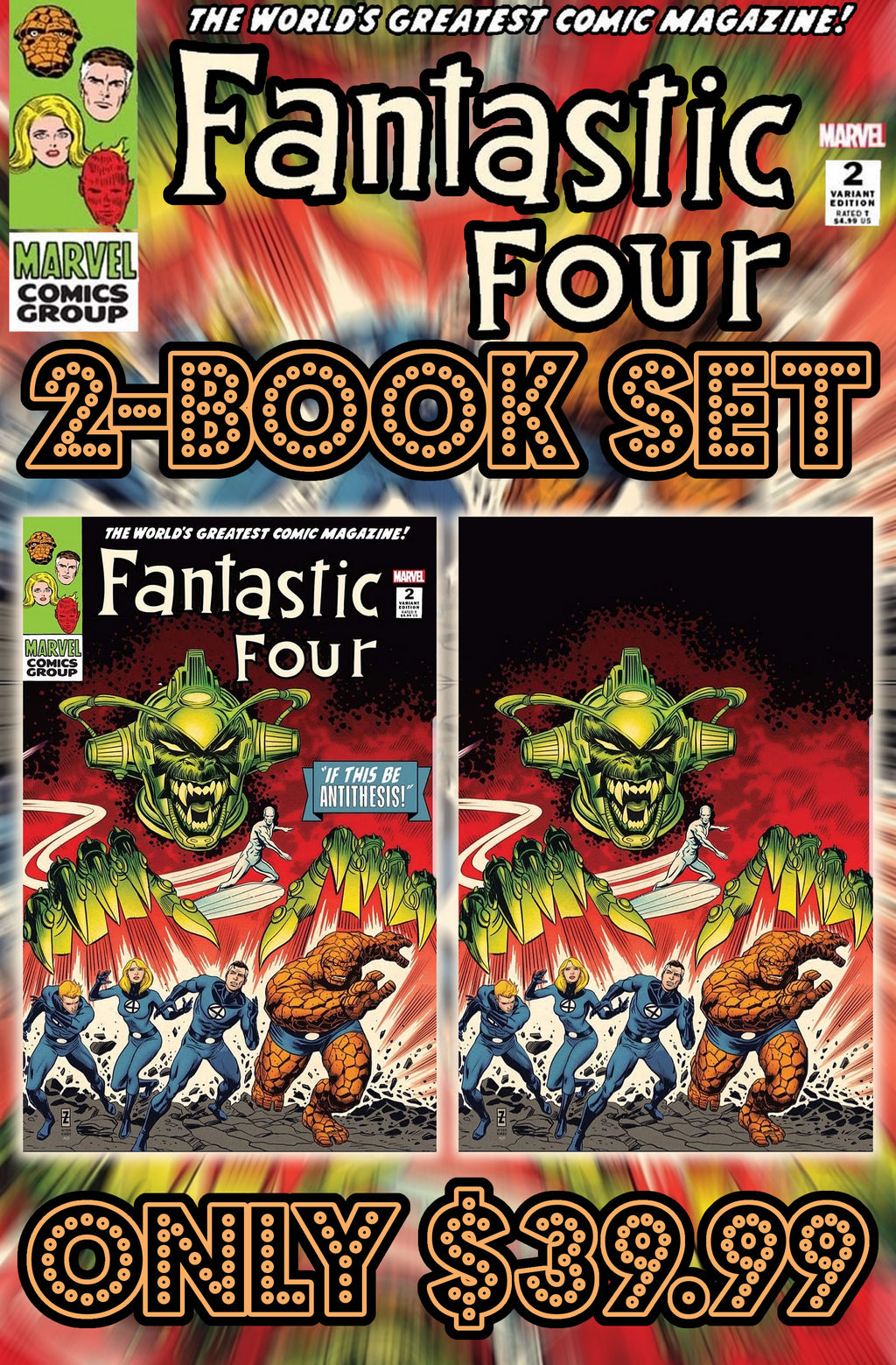 Fantastic Four Antithesis #2 Zircher Two Book Set