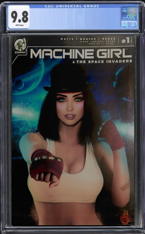 Machine Girl & Space Invaders #1 Rudich Trade CGC 9.8