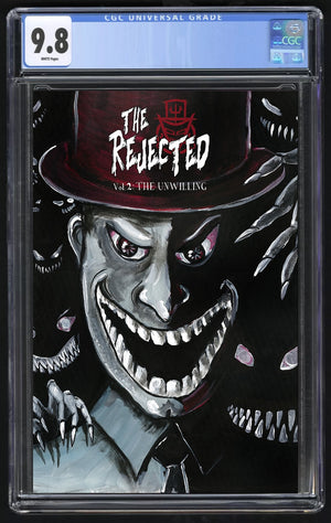 Rejected V2 The Unwilling Rob Hogan Mr. Teeth Variant. CGC 9.8