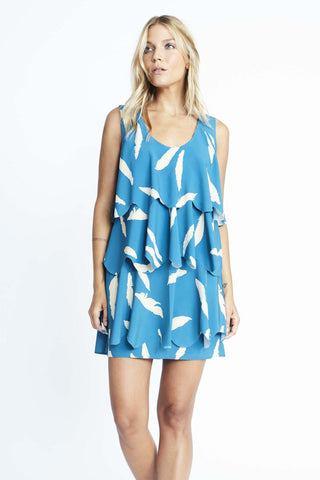 Feather Scallop Dress
