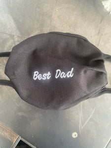 Embroidered Best Dad Masks
