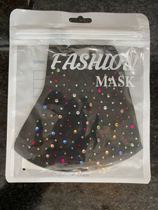 Studded Crepe Face  Mask