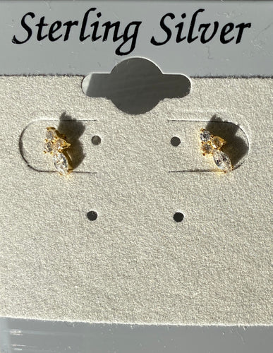 Tiny Crosses Studs