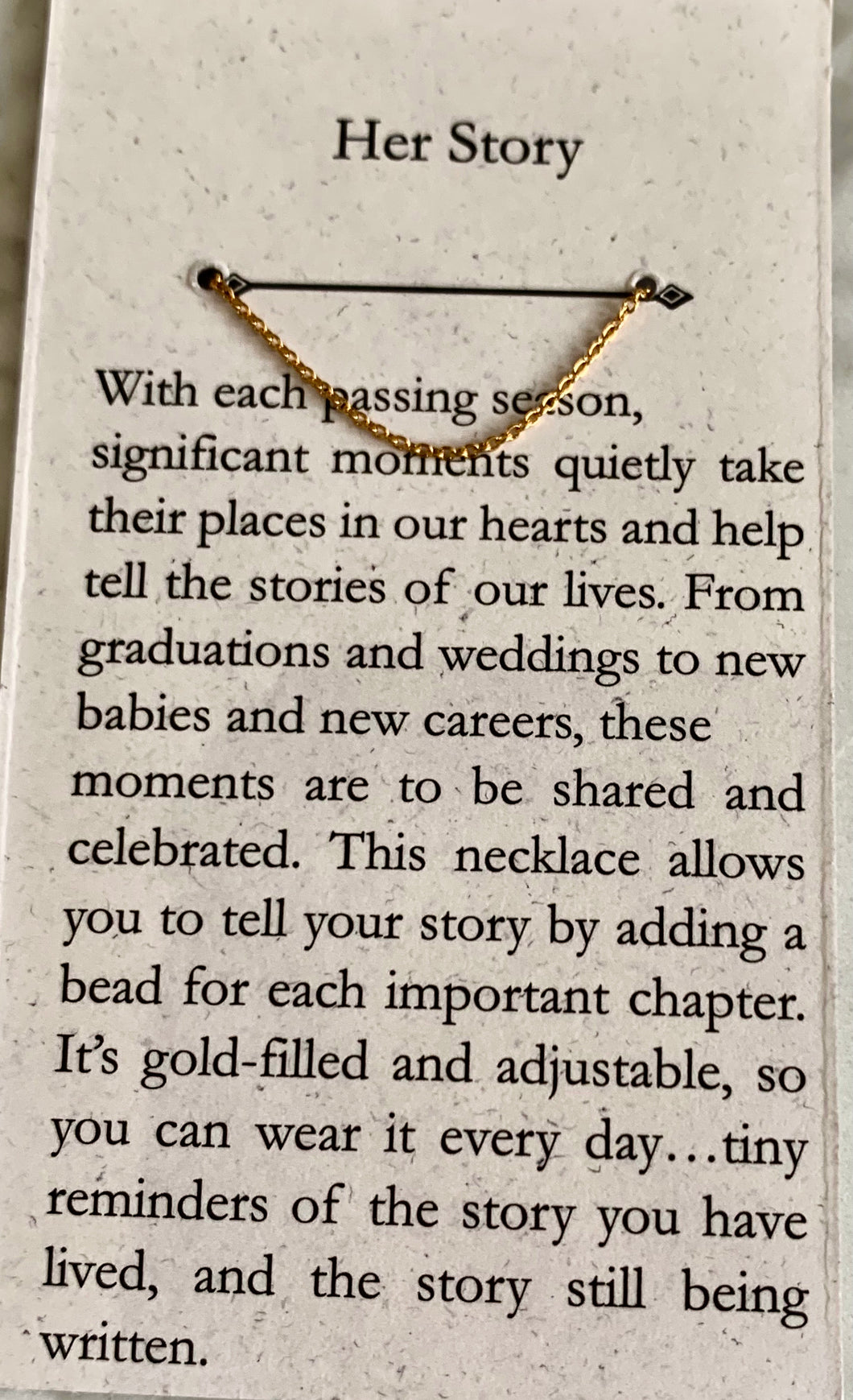 Her Story Necklace