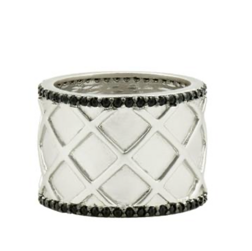 Criss Cross Cigar Band Ring