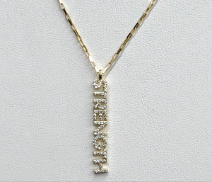 Gold Strength Necklace