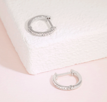 Load image into Gallery viewer, Half-Hearted Adventure? Never! Mini Hoop Earrings