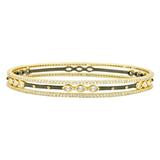 SIGNATURE MARQUISE STATION 3-STACK BANGLE