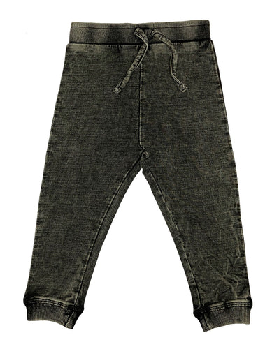 Denim Knit Jogger Pants
