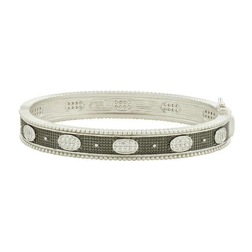Oval Eternity Hinged Bangle