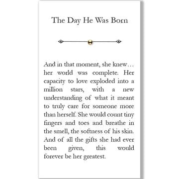 The day he was born necklace