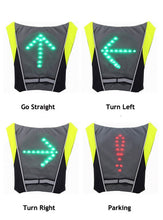 Load image into Gallery viewer, LED Bike lights vest for Backpack