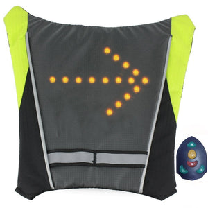 LED Bike lights vest for Backpack