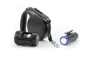 Dog Leash LED Light & Clean-up Bag