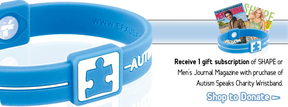 Autism Speaks Runner Promotion, Autism Speaks Charity Wristband, Autism Speaks Foundation, Gift Magazine Subscription