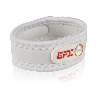 Neoprene Sport Wristband - White / Red