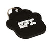 Silicone Pet Tag - (Paw) Black