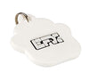 Silicone Pet Tag - (Paw) White