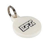 Silicone Pet Tag - (Round) White