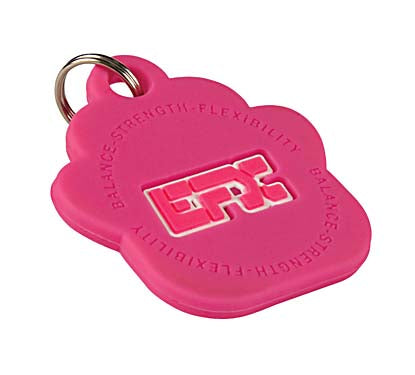 Silicone Pet Tag - (Paw) Pink
