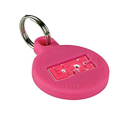 Silicone Pet Tag - (Round) Pink
