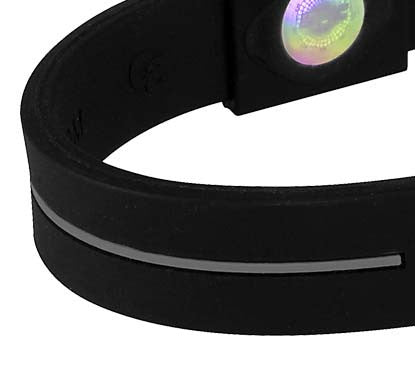 Silicone Sport Wristband - Black / Grey