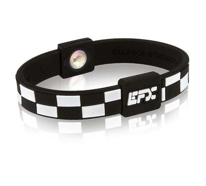 Silicone Sport Wristband - Checkers (Black/White)