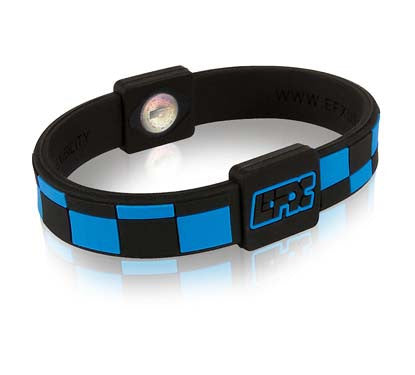 Silicone Sport Wristband - Checkers (Black/Blue)