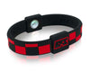 Silicone Sport Wristband - Checkers (Black/Red) - 8 inch