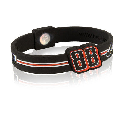 Silicone Sport Wristband - NASCAR Dale Earnhardt Jr. (Blk/Red)