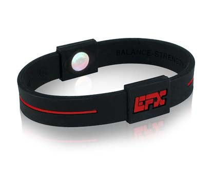 Silicone Sport Wristband - Black / Red
