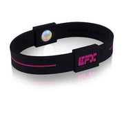 Silicone Sport Wristband - Black / Purple