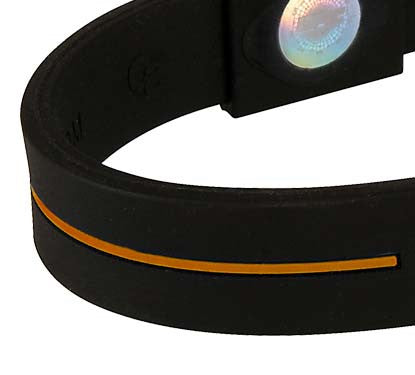 Silicone Sport Wristband - Black / Orange
