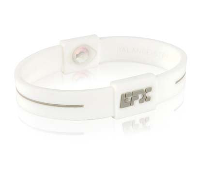 Silicone Sport Wristband - White / Cool Grey