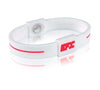Silicone Sport Wristband - White / Red