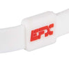 Silicone Sport Wristband - American Flag (White)