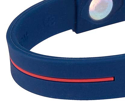 Silicone Sport Wristband - Blue / White / Red